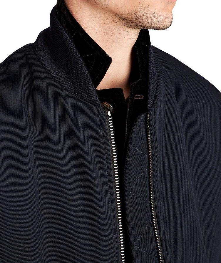 Stretch-Wool Bomber Jacket image 3