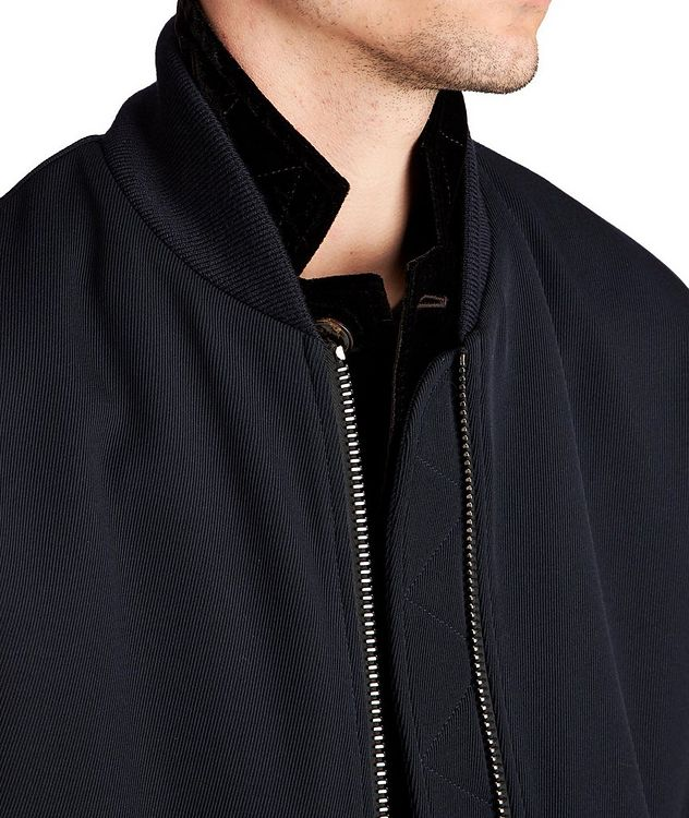 Stretch-Wool Bomber Jacket picture 4