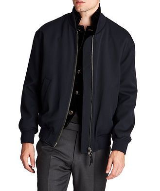 Giorgio Armani Stretch-Wool Bomber Jacket