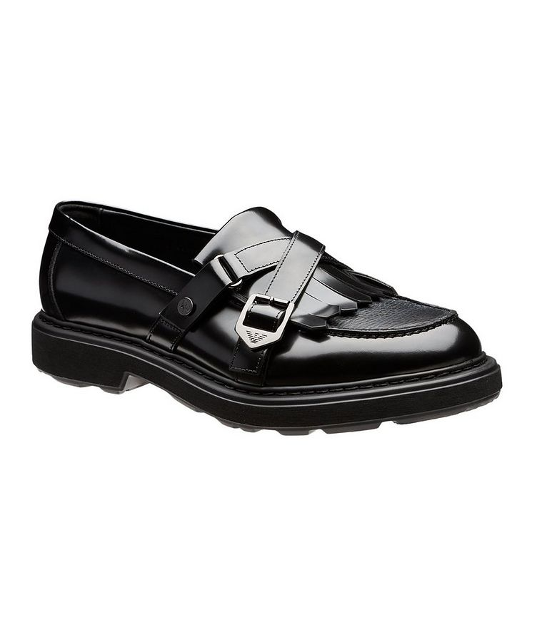 Fringed Leather Loafers image 0