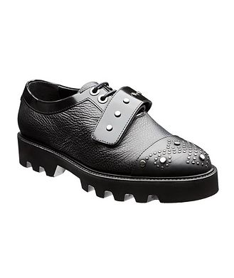Emporio Armani Cap-Toe Leather Oxfords