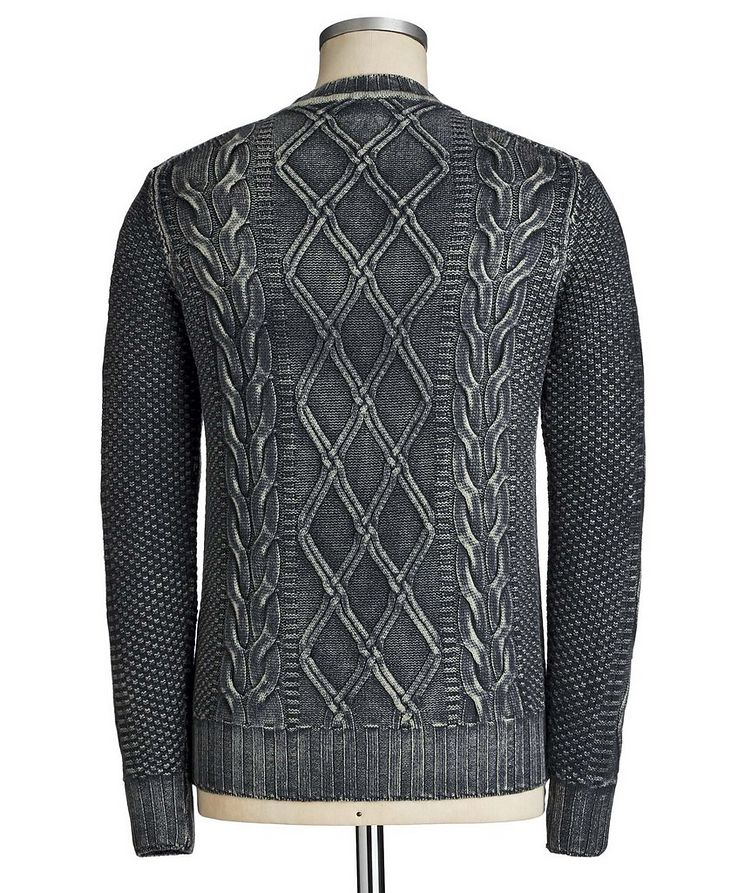 Cable Knit Virgin Wool Sweater image 1