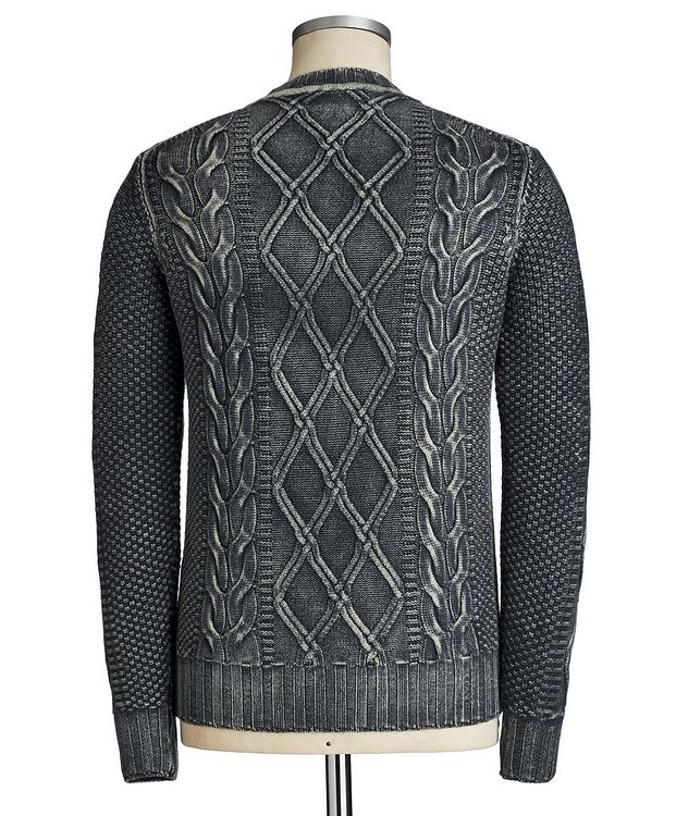 Cable Knit Virgin Wool Sweater picture 2