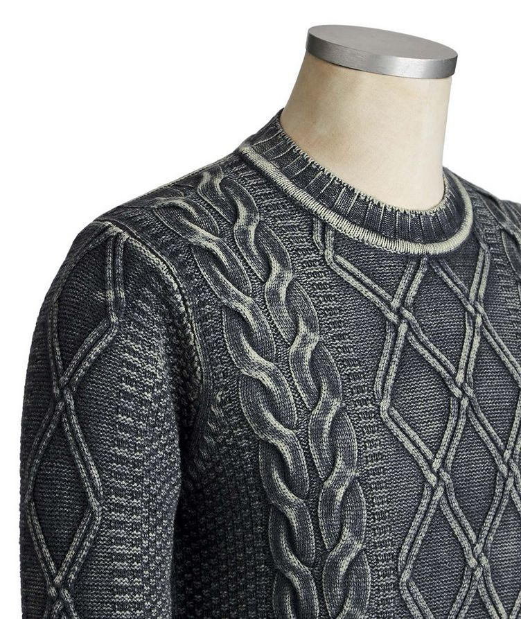 Cable Knit Virgin Wool Sweater image 2