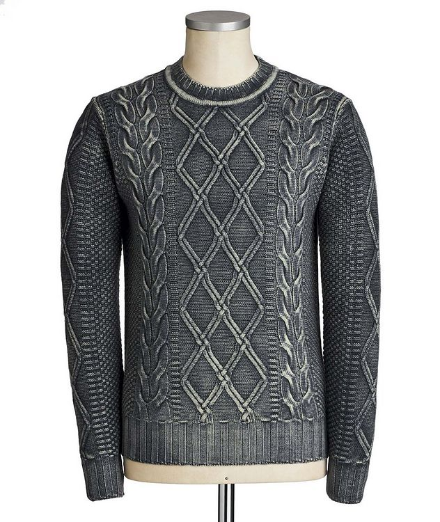 Cable Knit Virgin Wool Sweater picture 1
