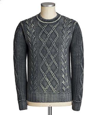 Fradi Pull en tricot torsadé de laine vierge