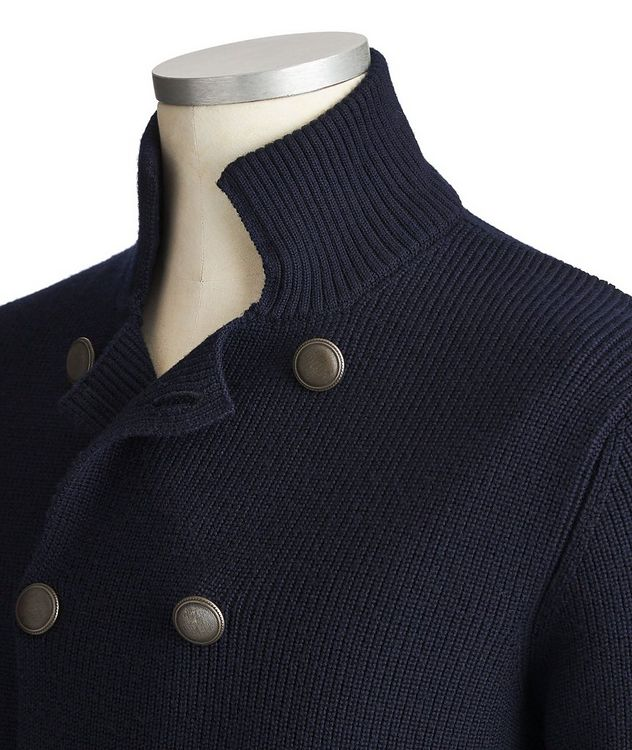 Double-Breasted Wool Cardigan picture 2