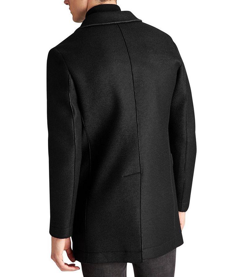 Manteau en néoprène et laine image 1