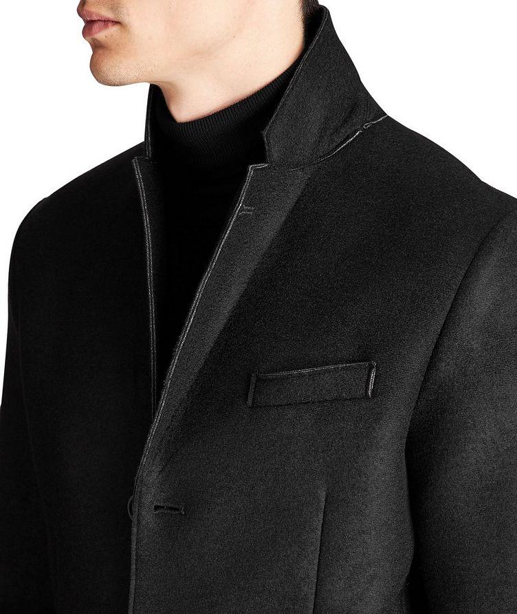 Manteau en néoprène et laine image 2