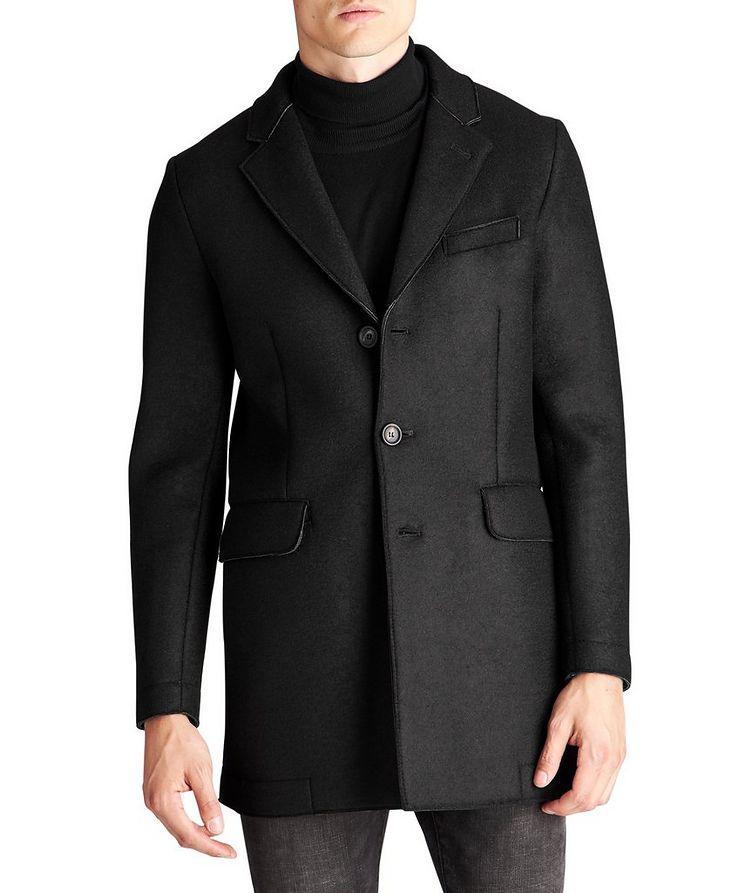 Manteau en néoprène et laine image 0