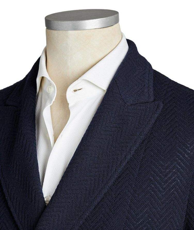 Double-Breasted Wool-Cotton Sports Jacket image 1