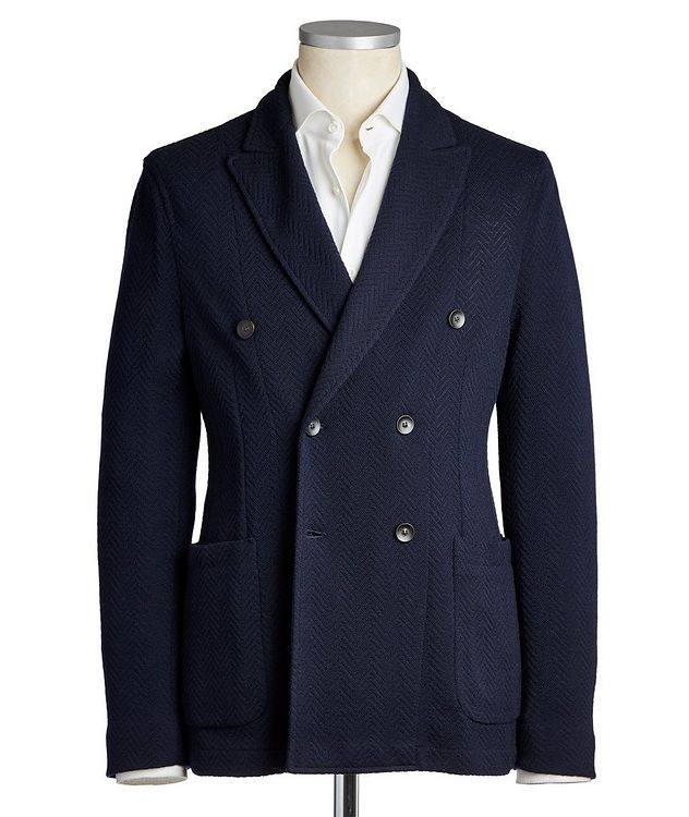 Double-Breasted Wool-Cotton Sports Jacket picture 1