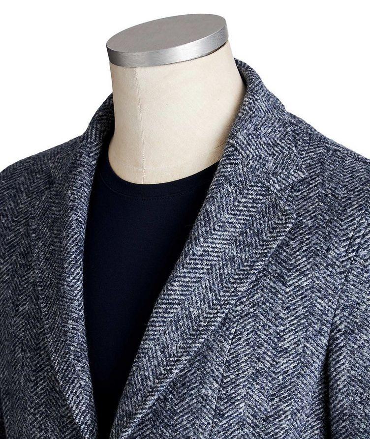 Veston Postage Pocket en lainage à motif de chevrons image 1