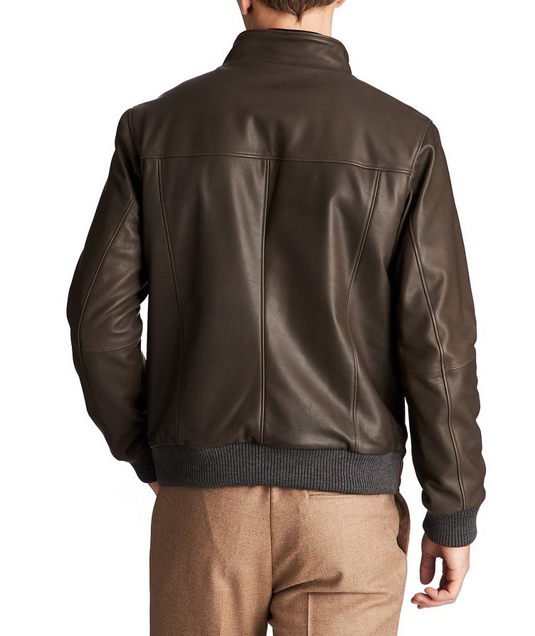 Paolo Leather Bomber Jacket image 1