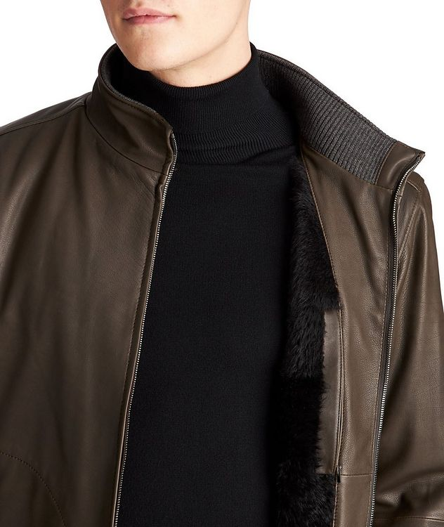 Paolo Leather Bomber Jacket picture 3