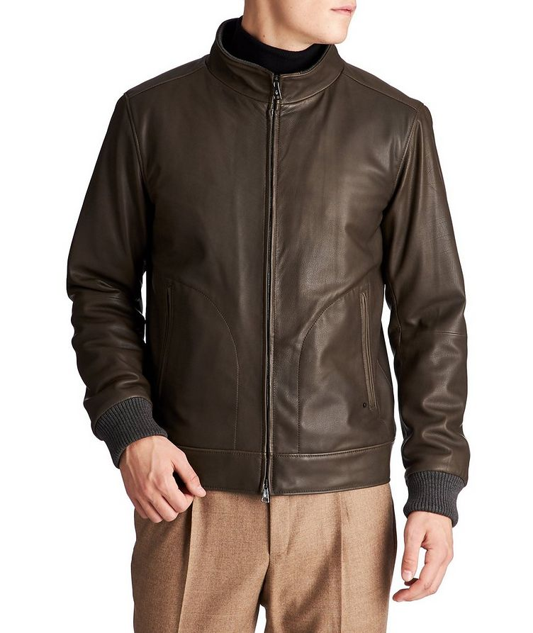Paolo Leather Bomber Jacket image 0