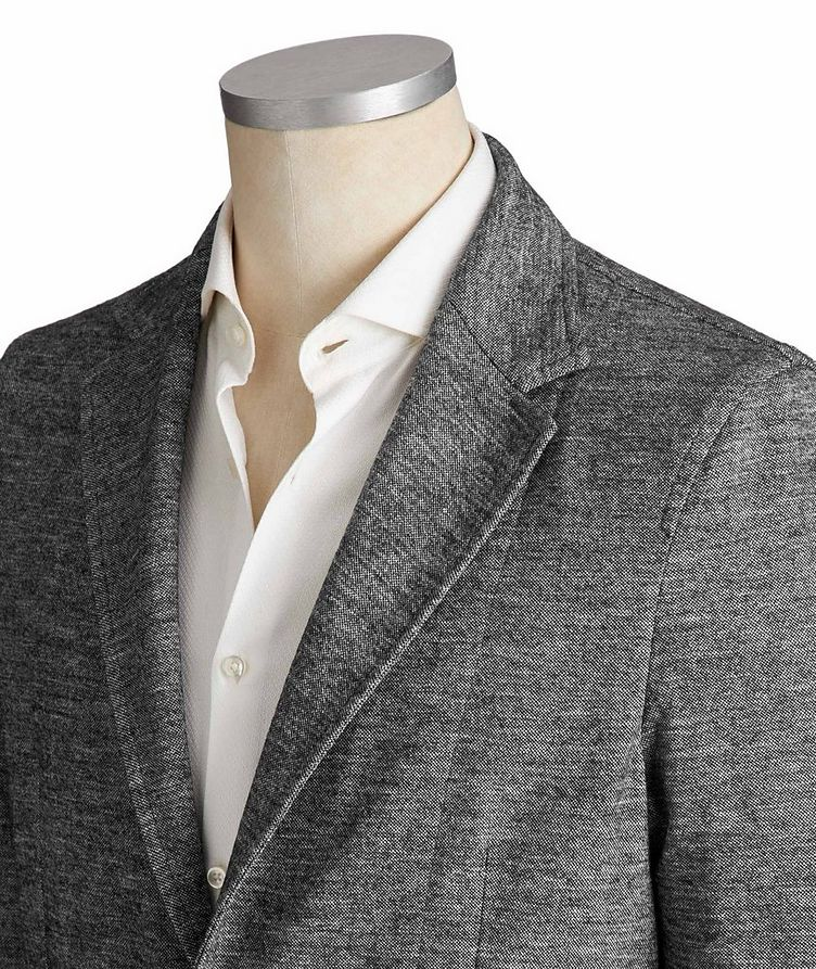 Unstructured Cotton & Wool Sports Jacket image 1