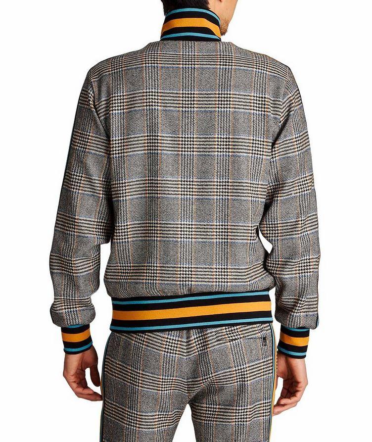 Zip-Up Tartan Wool-Cashmere Sweatshirt image 1