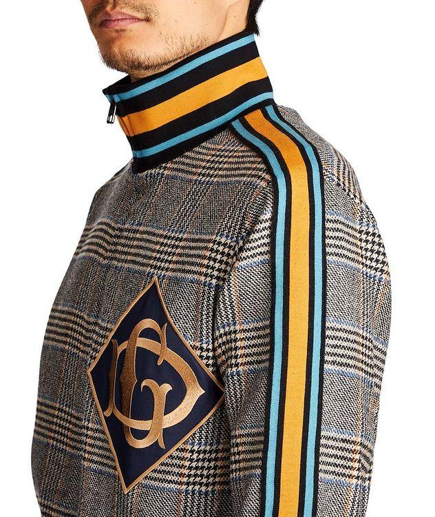 Zip-Up Tartan Wool-Cashmere Sweatshirt picture 3