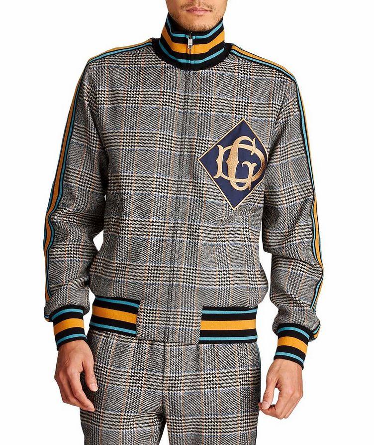 Zip-Up Tartan Wool-Cashmere Sweatshirt image 0