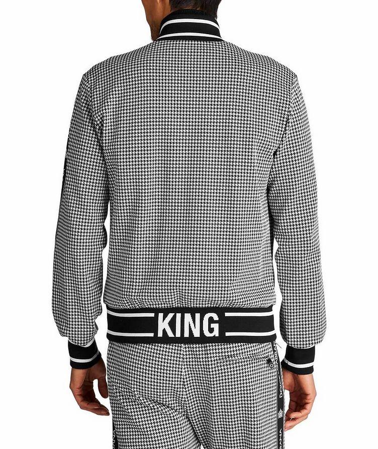 Zip-Up Houndstooth Cotton-Blend Sweatshirt image 1