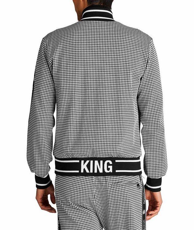 Zip-Up Houndstooth Cotton-Blend Sweatshirt picture 2