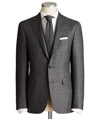 Canali Kei Windowpane Wool Suit