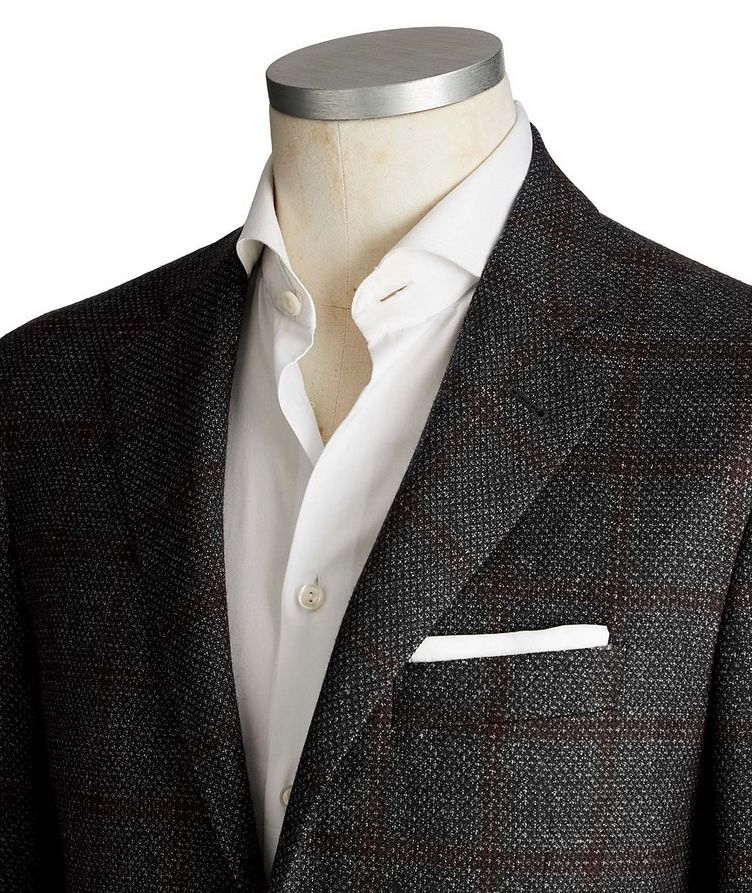 Kei Windowpane Wool Sports Jacket image 1