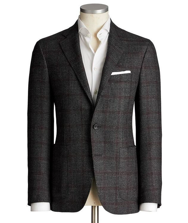 Kei Windowpane Wool Sports Jacket picture 1