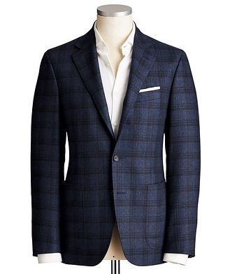 Canali Kei Windowpane Checked Sports Jacket