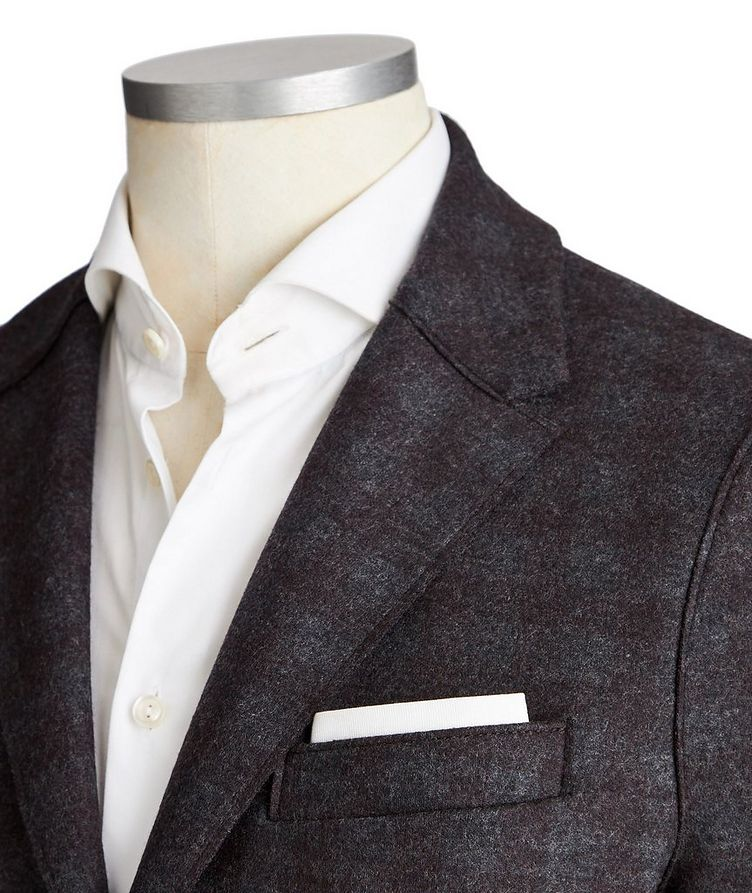 Unstructured Checked Wool Sports Jacket image 1
