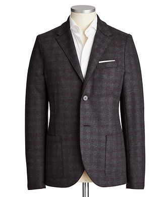 Harris Wharf London Unstructured Checked Wool Sports Jacket