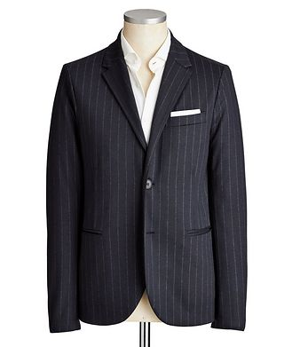 Harris Wharf London Unstructured Pinstriped Wool Sports Jacket