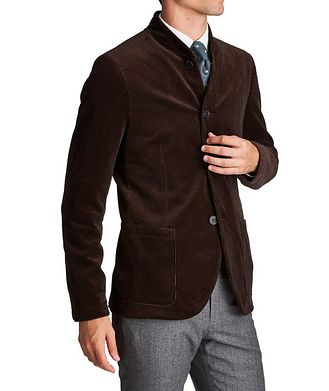 Harris Wharf London Unstructured Bomber-Style Sports Jacket