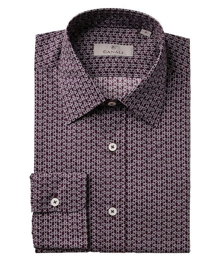Chain-Link Print Cotton Shirt image 0