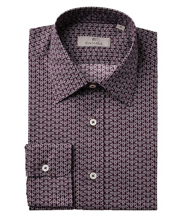 Chain-Link Print Cotton Shirt picture 1