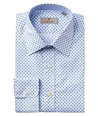 Canali Botanical Print Cotton Shirt