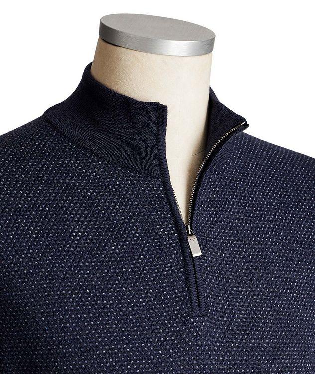 Half-Zip Wool-Cotton Sweater picture 2