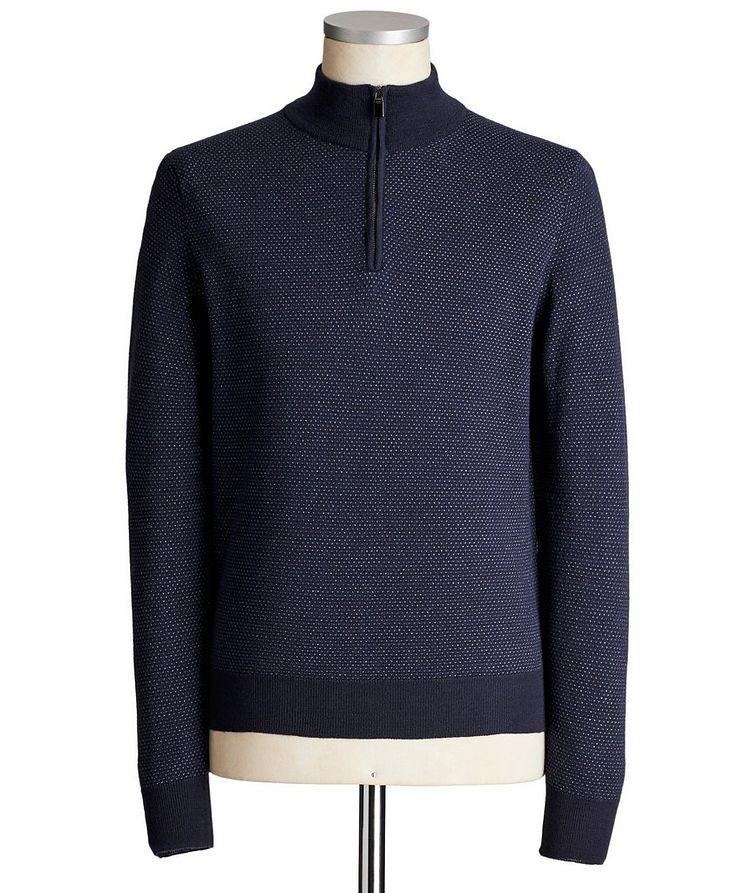 Half-Zip Wool-Cotton Sweater image 0