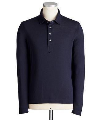 Gran Sasso Long-Sleeve Virgin Wool Polo