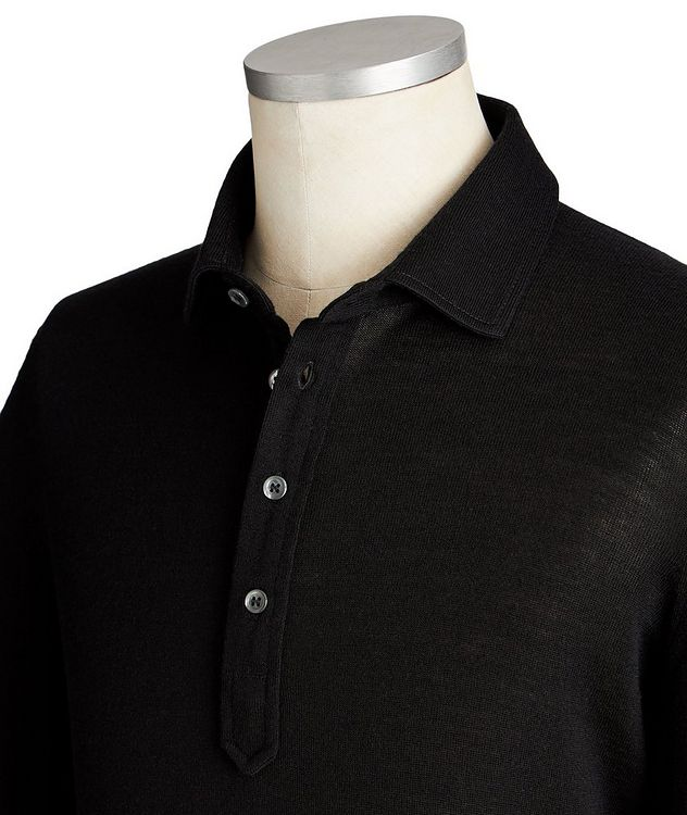 Long-Sleeve Travel Wool Polo picture 2