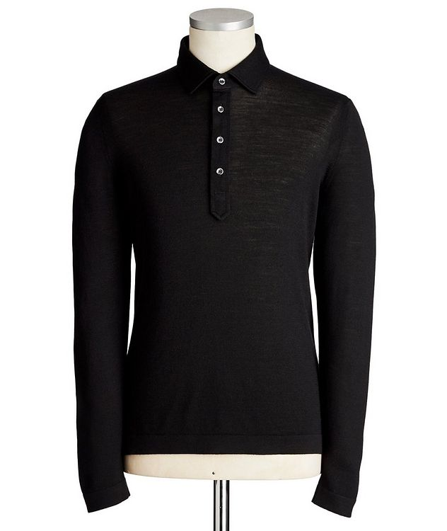 Long-Sleeve Travel Wool Polo picture 1