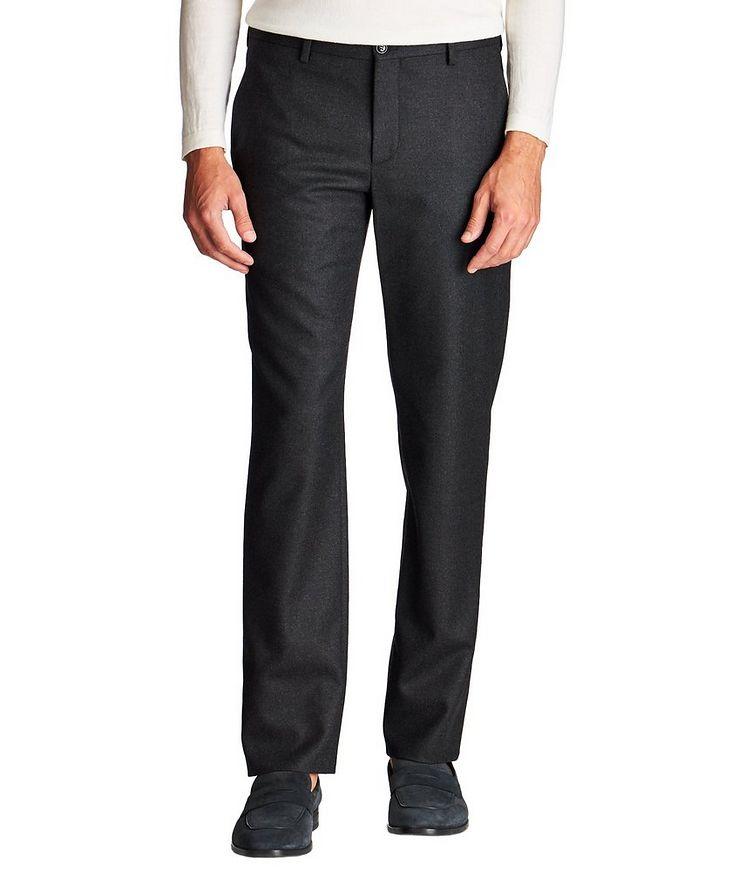 Pantalon en laine vierge extensible image 0