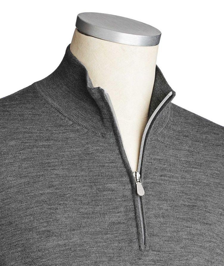 Half-Zip Wool-Cashmere Sweater image 1
