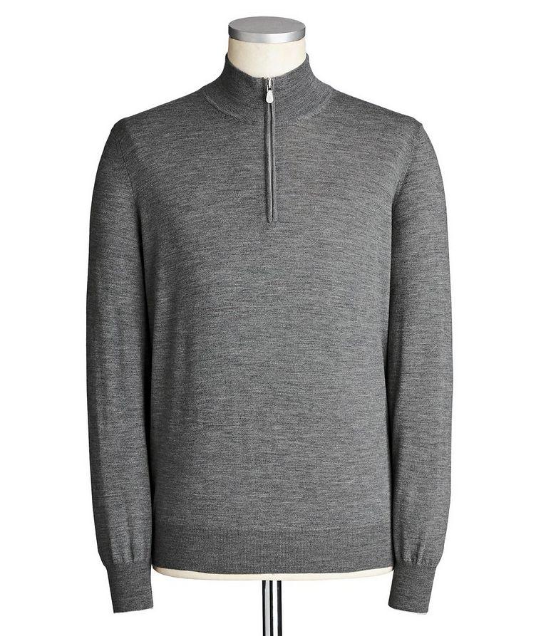 Half-Zip Wool-Cashmere Sweater image 0