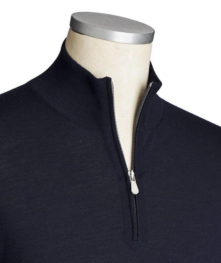 Pull en laine et cachemire à demi-glissière image 1
