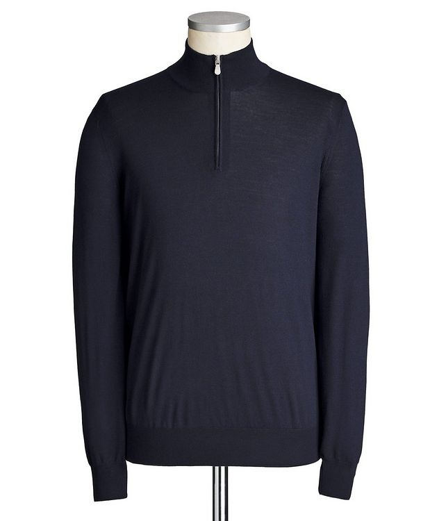 Half-Zip Wool-Cashmere Sweater picture 1