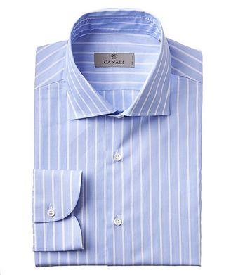 Canali Printed Cotton Dress Shirt