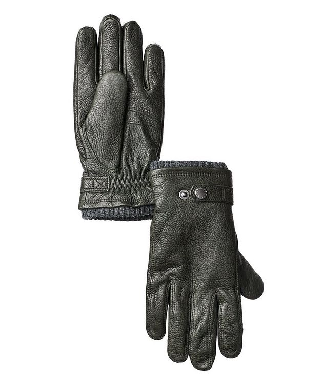 Fleece-Lined Elk Leather Gloves picture 1