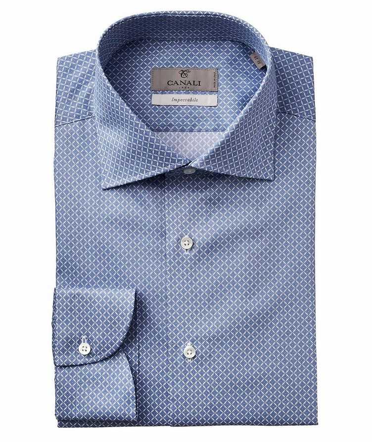 Slim Fit Printed Impeccabile Dress Shirt image 0